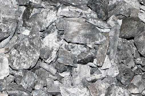 istock Black charcoal after burning and cooling down 877959950