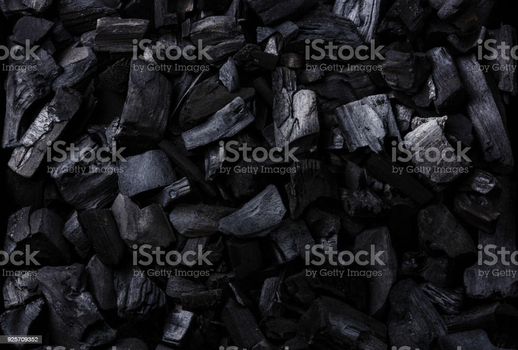 Black Charcoal background stock photo