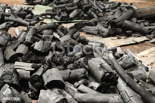 istock Black charcoal horizontal picture 663917806