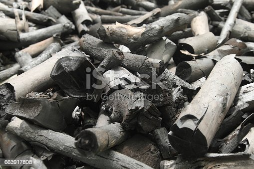istock Black charcoal horizontal picture 663917808