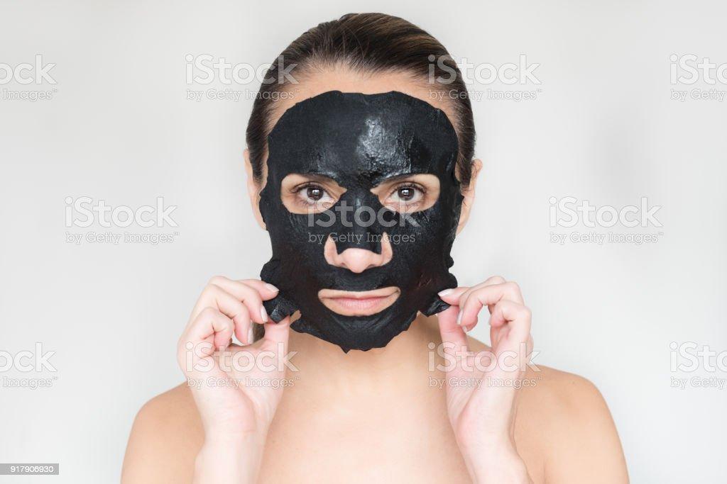 Schwarz Anthrazit Maske – Foto