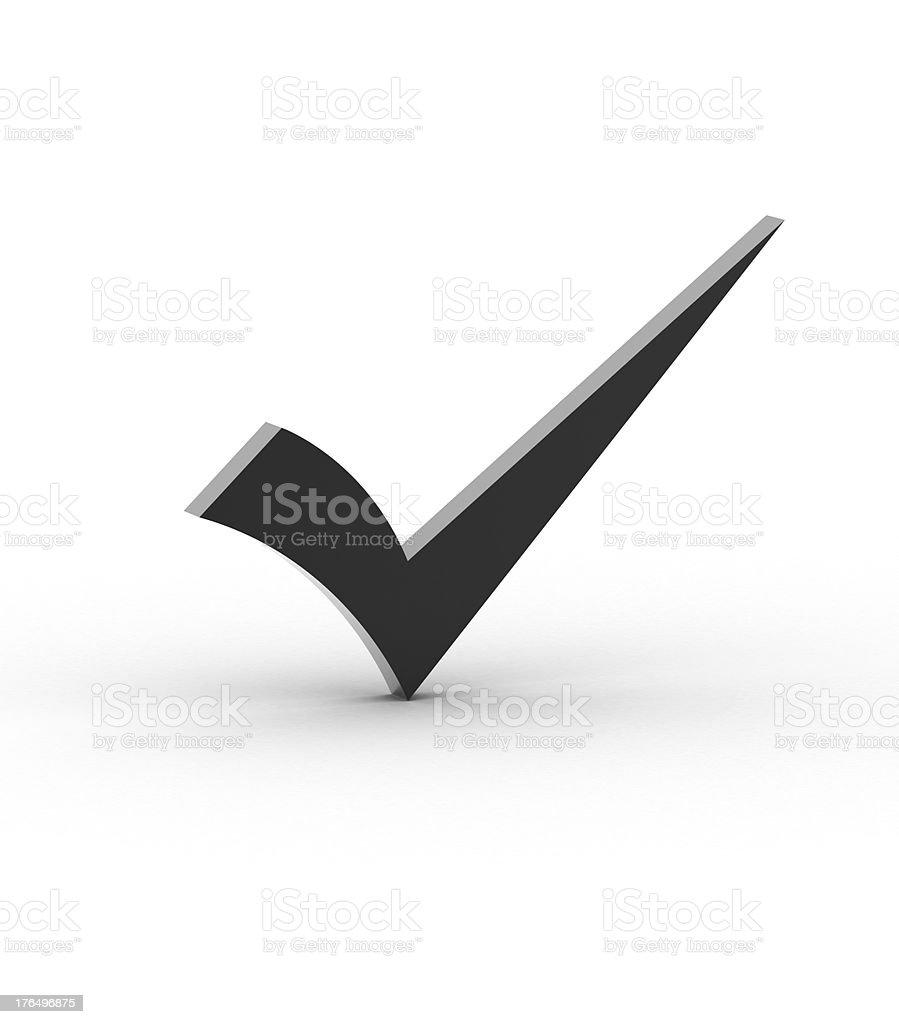 Black checkmark royalty-free stock photo