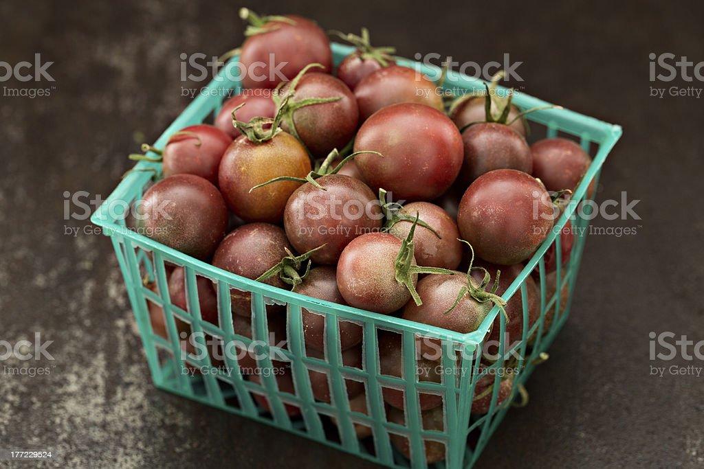 Black Cherry Tomatoes royalty-free stock photo