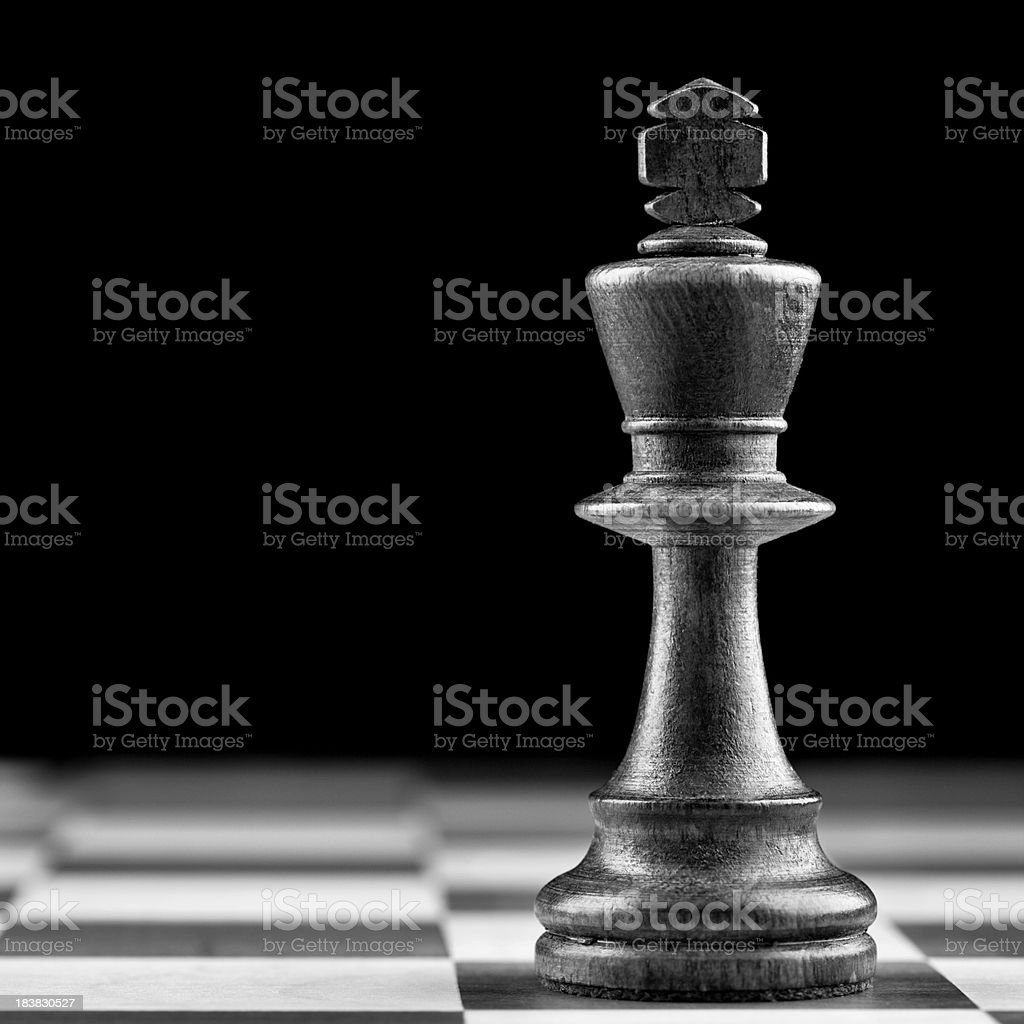 Black Chess King royalty-free stock photo
