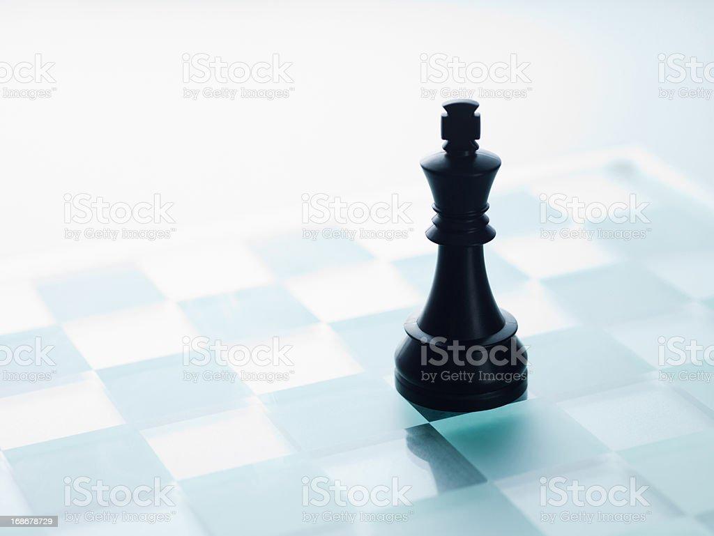 Black chess piece royalty-free stock photo