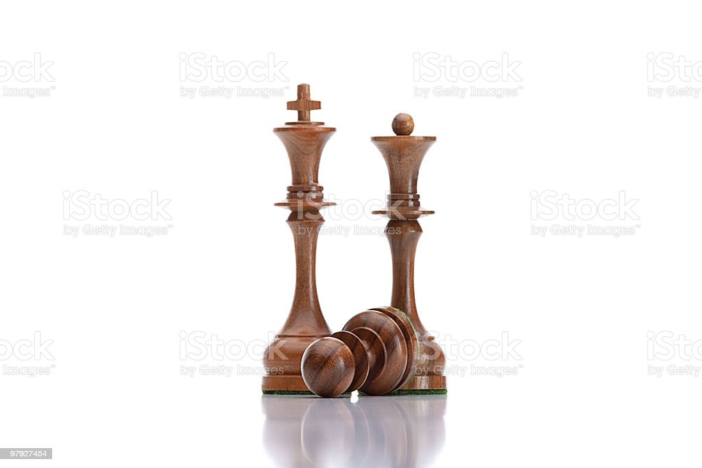 black chess pieces royalty-free stock photo