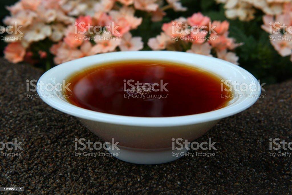 Jardín de té chino negro - Foto de stock de Bebida libre de derechos
