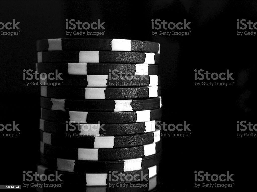 Black chips stock photo