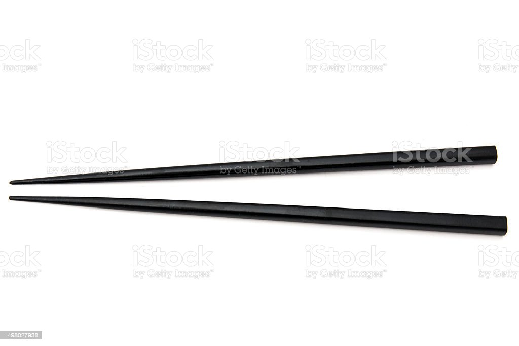 Black chopsticks stock photo