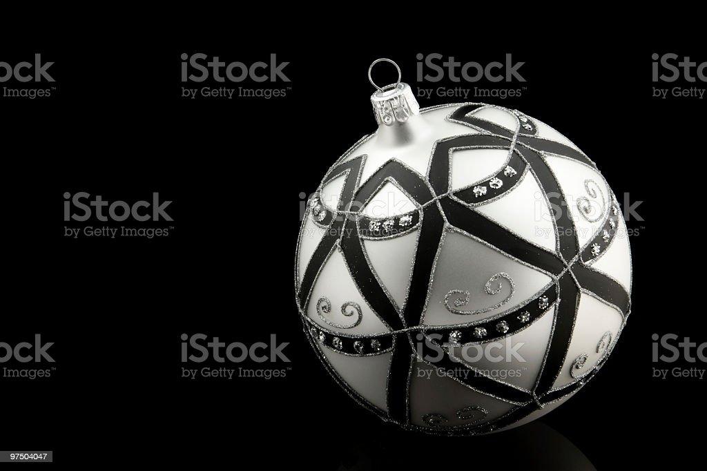 Black Christmas royalty-free stock photo
