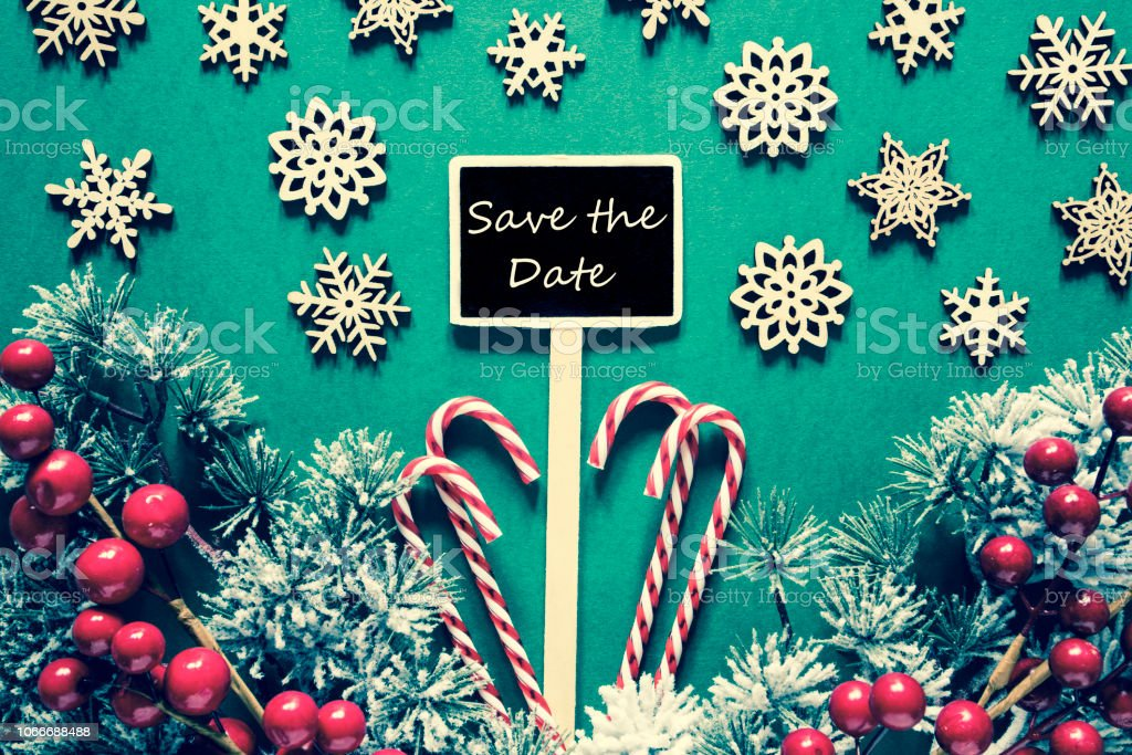 Christmas Save The Date Free.Black Christmas Signlights Save The Date Retro Look Stock