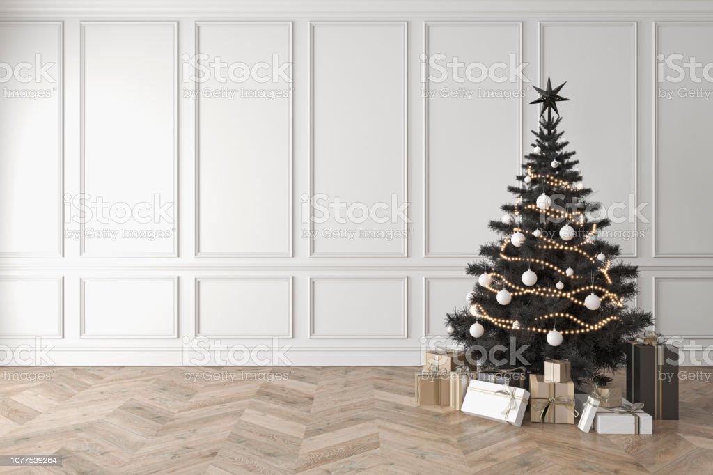 Photo Libre De Droit De Sapin De Noël Noir En Chambre