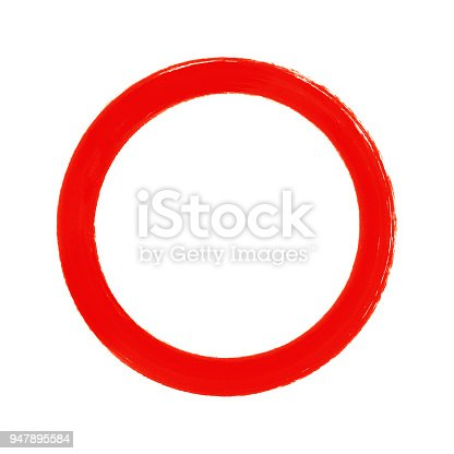 700561460 istock photo Black circle brush stroke frame isolated on white background 947895584