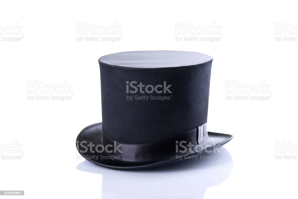 Black classic top hat stock photo