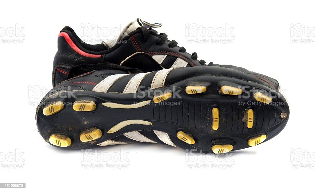 black cleats stock photo