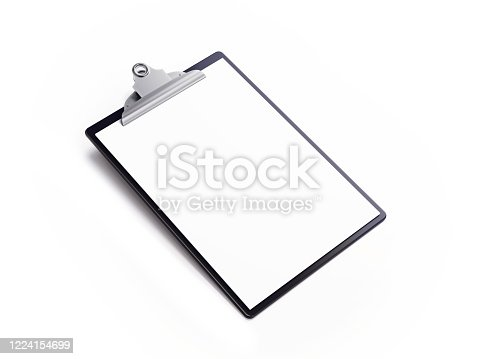 524051315 istock photo Black Clipboard Isolated on White Background 1224154699