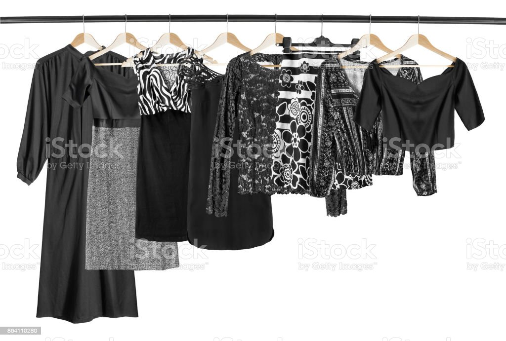 Black clothes isolated royalty-free stock photo