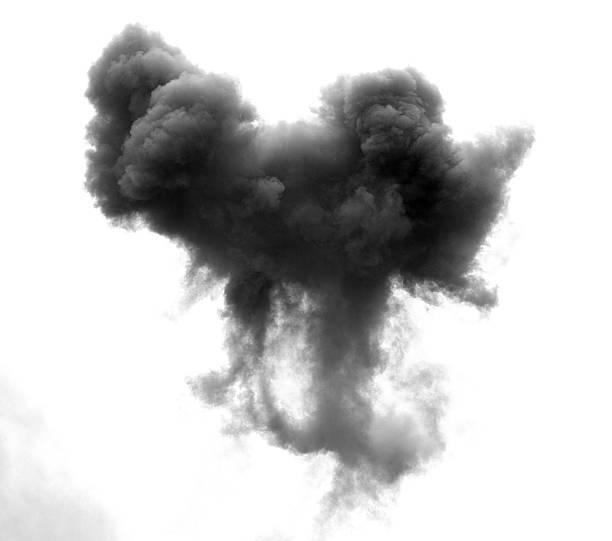 Schwarze infolge einer explosion an eine Bombe – Foto