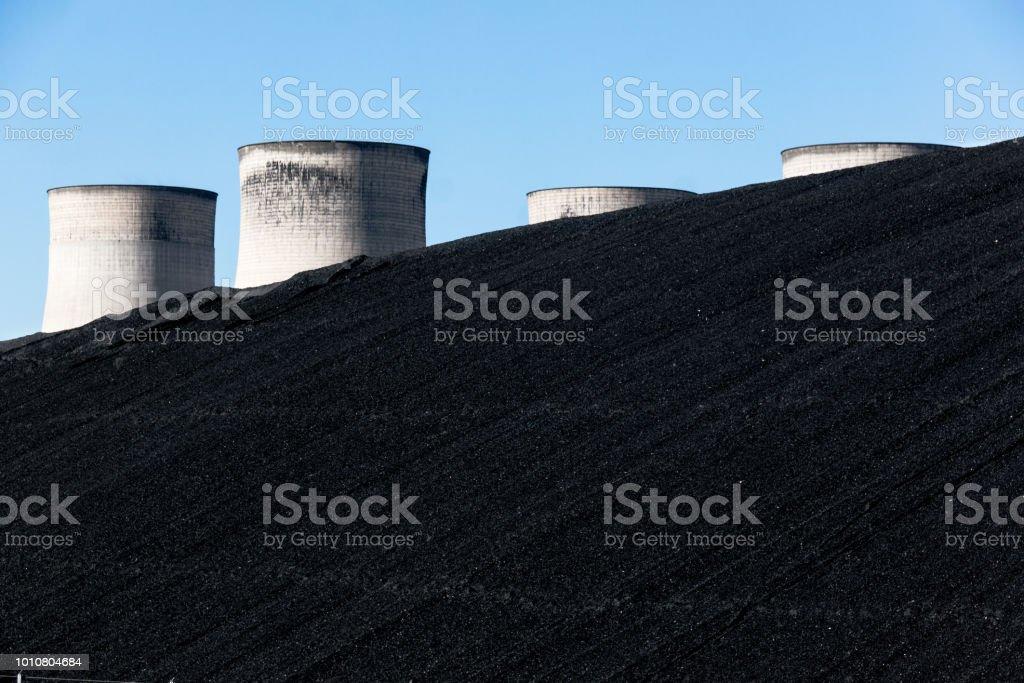 Black Coal Hill stock photo