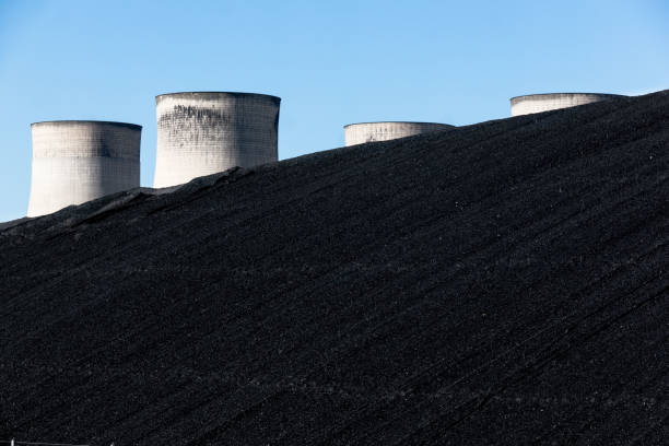 Black Coal Hill stock photo