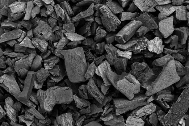 black coal texture - charcoal drawing stock photos and pictures