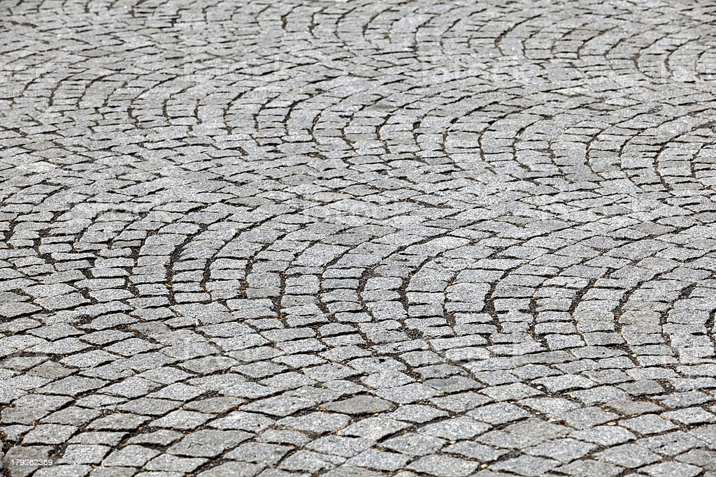 black   cobblestone road background royalty-free stock photo