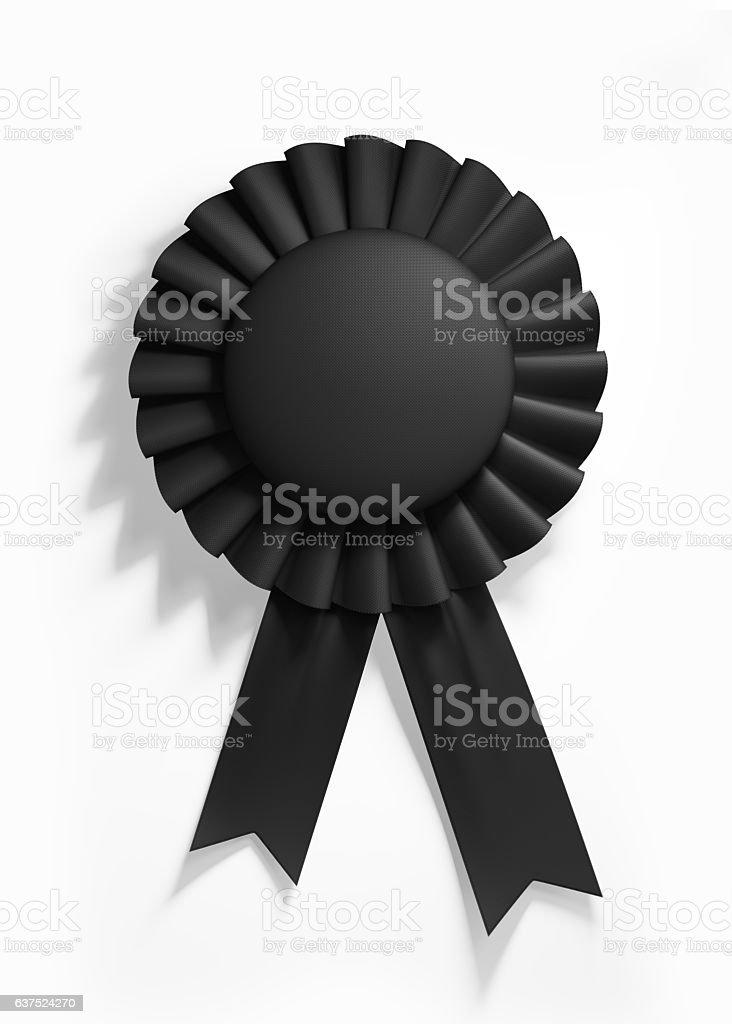 Black Cockade Isolated on White Background stock photo