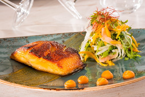 Black Cod Miso Marinated Stock Photo - Download Image Now