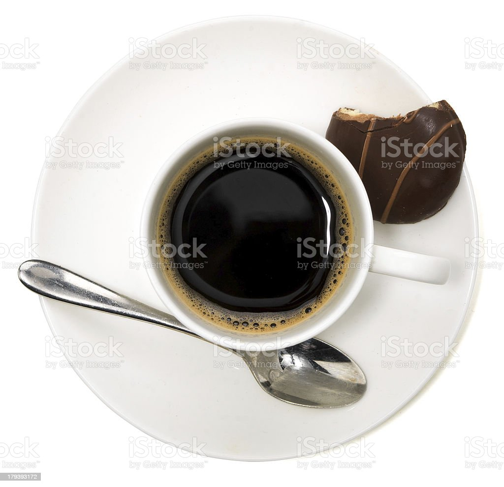 Black Coffee and Biscuit royalty-free stock photo