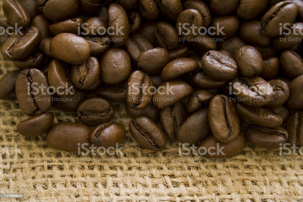 Black Coffee Crops On The Table stock photo