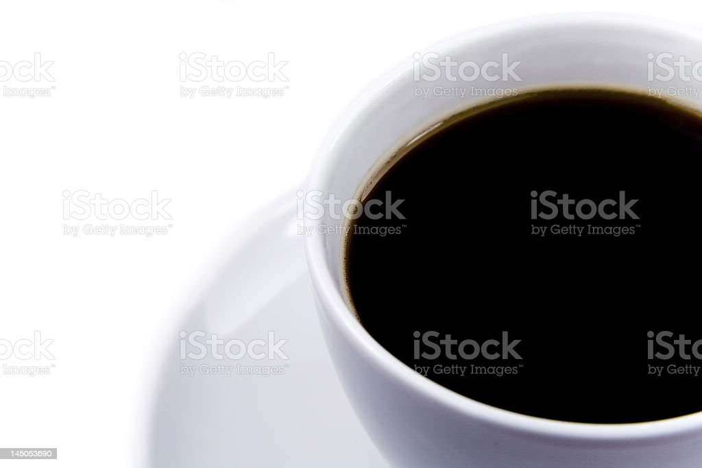 Black coffee cup royalty-free stock photo