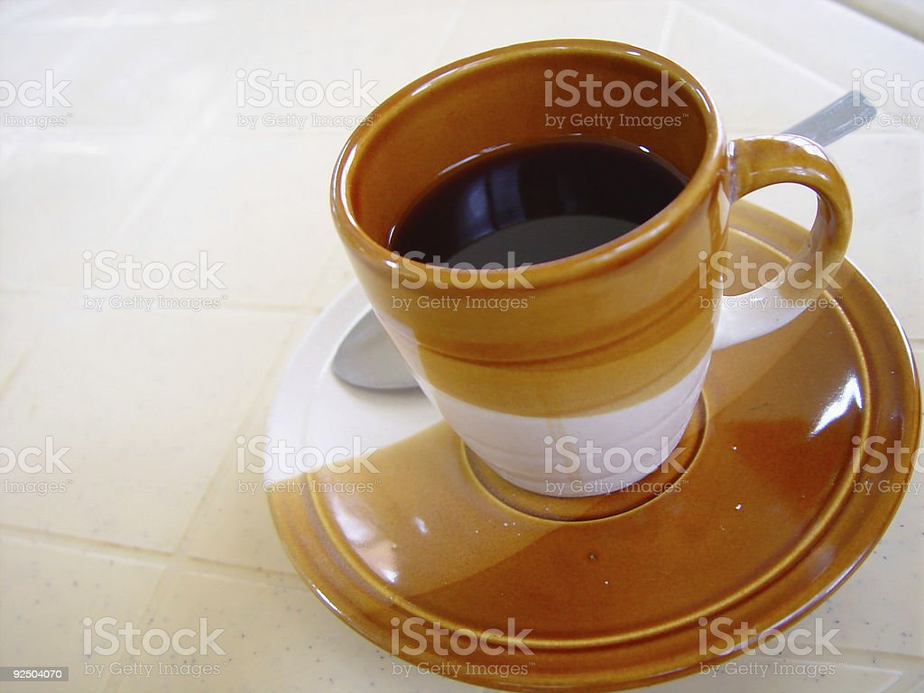 Black Coffee In A Cup stock photo