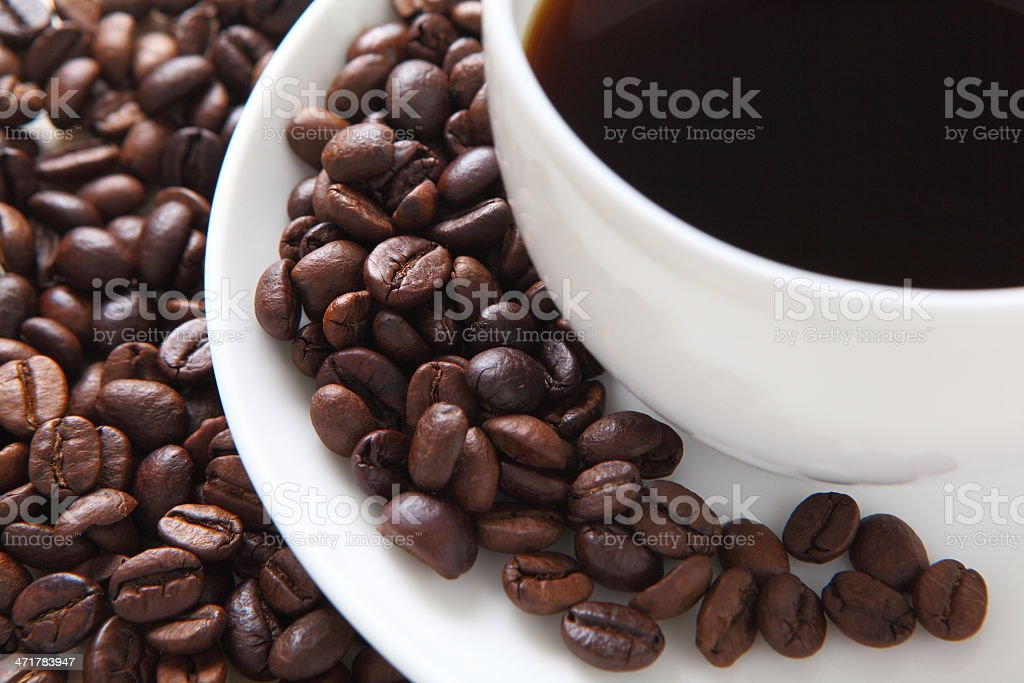 black coffee in a white cup royalty-free stock photo
