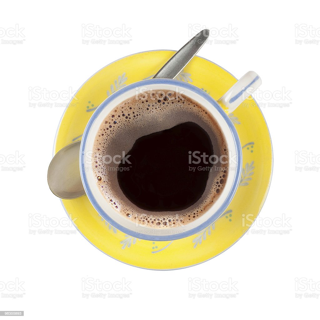 Black coffee in nicely patterned cup royalty-free stock photo