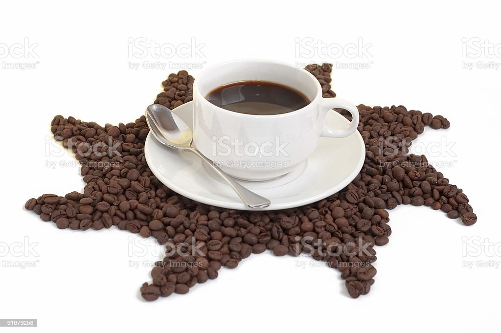 Black Coffee On A Star (Low Angle) stock photo