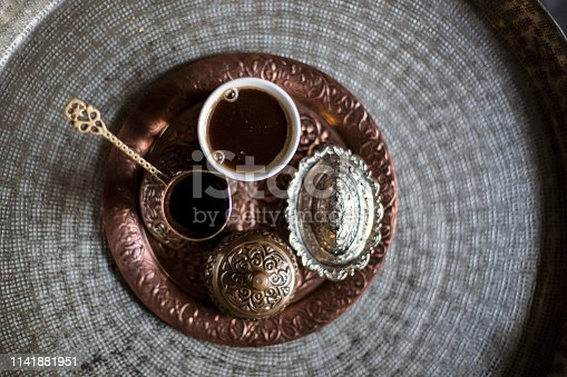 Coffee served in a traditional way.