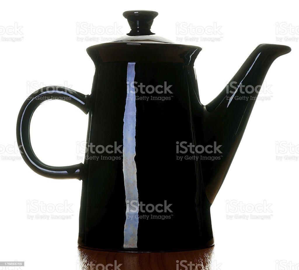 Black coffee pot royalty-free stock photo