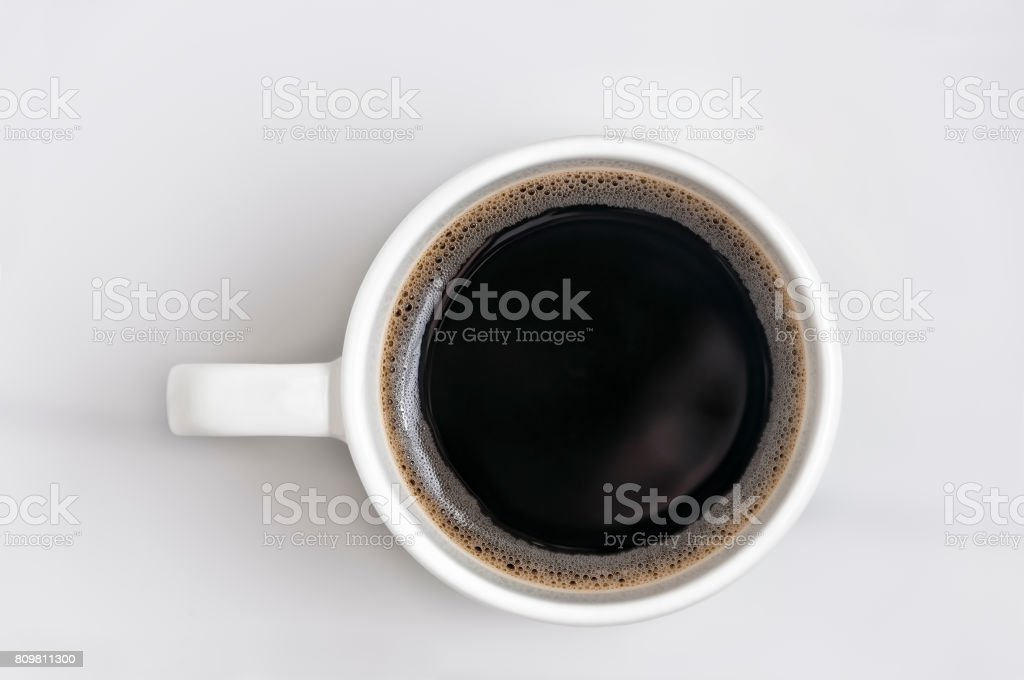 Black Coffee White Cup stock photo