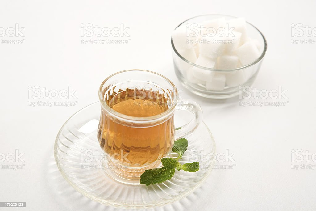 Black Coffee with Sugar Cube royalty-free stock photo