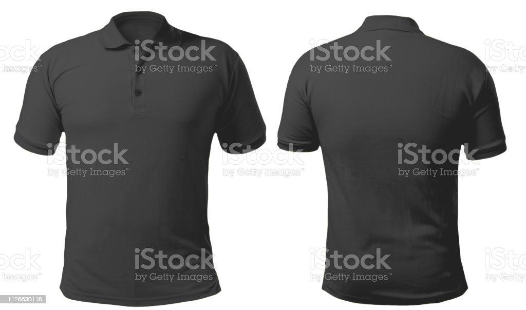 Black Collared Shirt Design Template stock photo