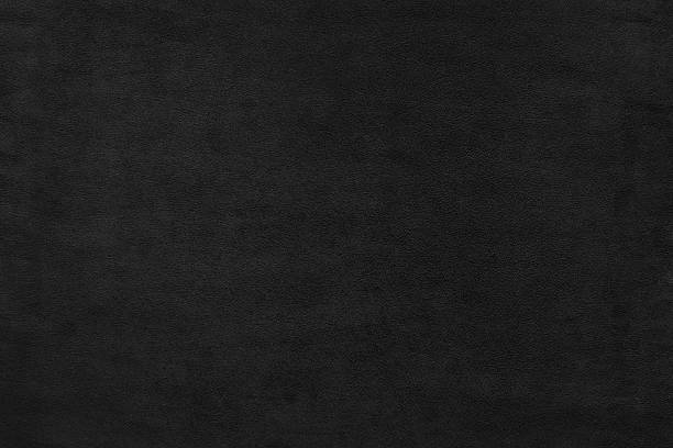 Black color velvet texture background - foto stock