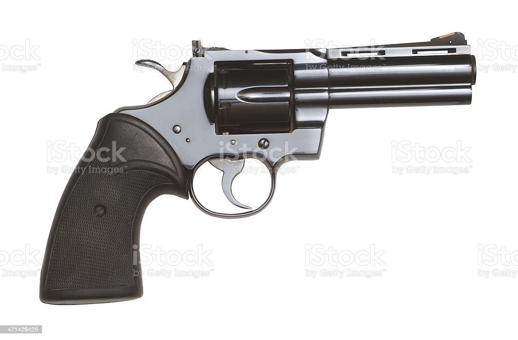 Black Colt Python Revolver Isolated On White Background