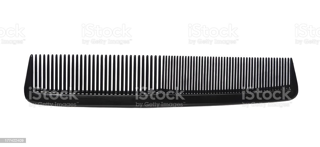 Black comb stock photo