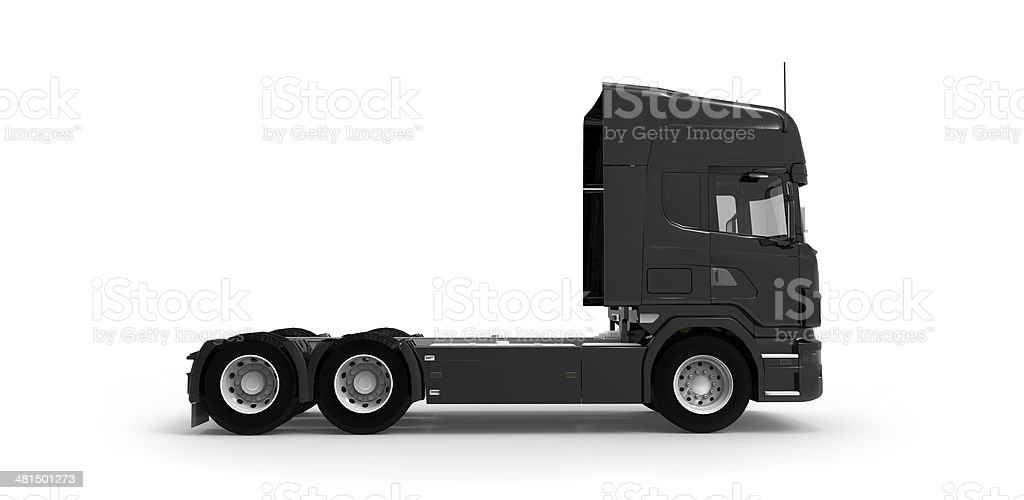 Black commercial truck/lorry cap - Isolated stock photo