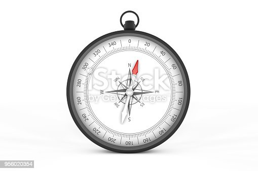 870218154 istock photo Black Compass on White Background 956020354