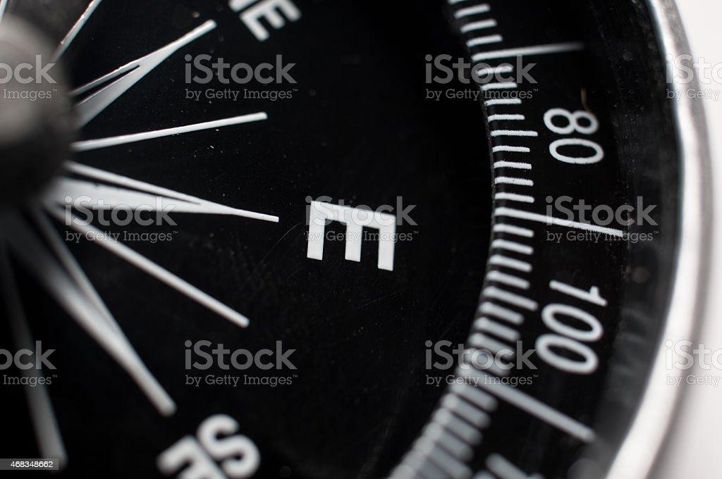 Black compass royalty-free stock photo