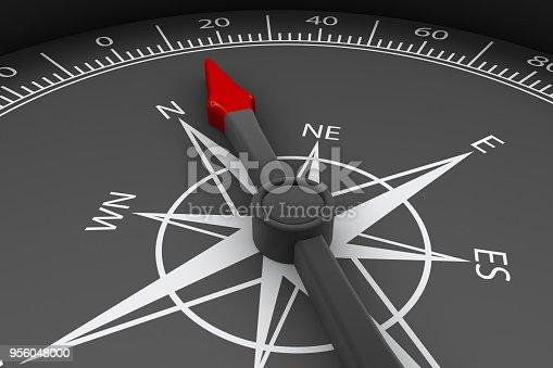 870218154 istock photo Black Compass 956048000