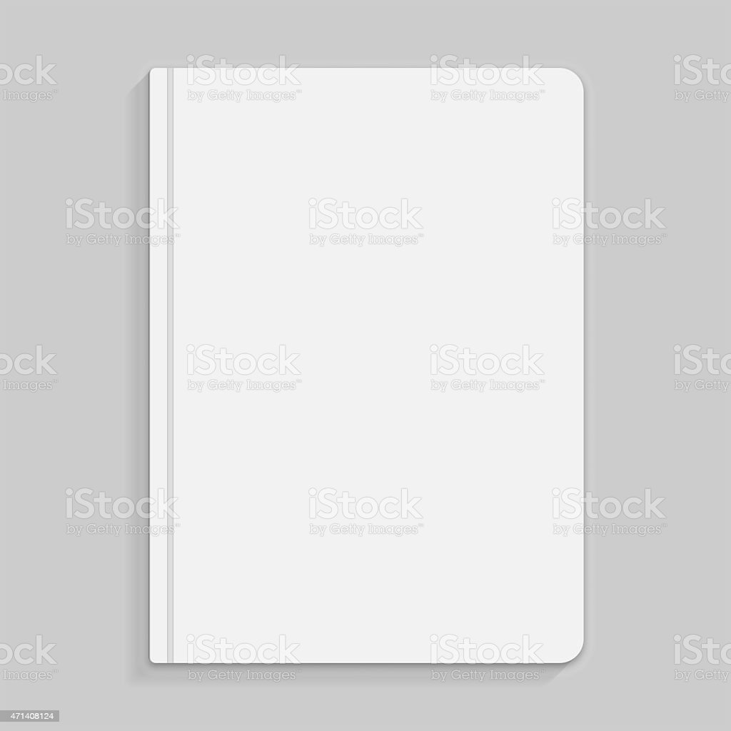 Black copybook with elastic band bookmark illustration stock photo