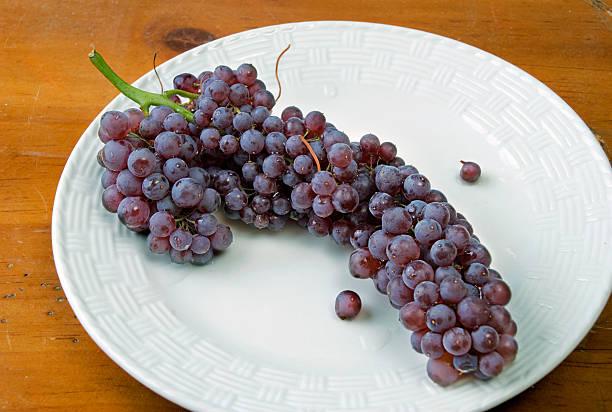 Black Corinth Grapes stok fotoğrafı