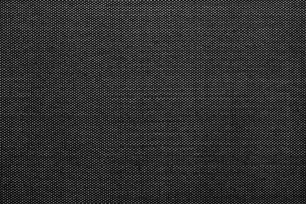 siyah pamuklu gömlek doku. - tekstil stok fotoğraflar ve resimler